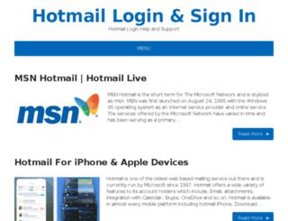 hotmailemaillogin.com screenshot