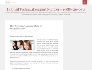 hotmailtechnicalhelpsupportnumberusa.wordpress.com screenshot