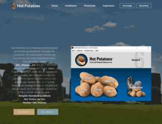 hotpotatoes.de screenshot