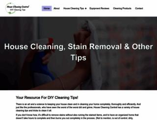 housecleaningcentral.com screenshot