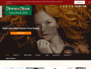 houseofhair.com screenshot
