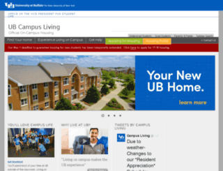 housing.buffalo.edu screenshot