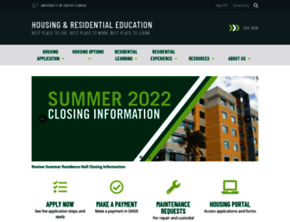 housing.usf.edu screenshot