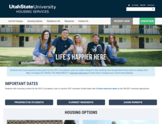 housing.usu.edu screenshot