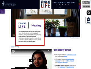 housing.utoronto.ca screenshot
