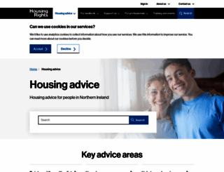 housingadviceni.org screenshot