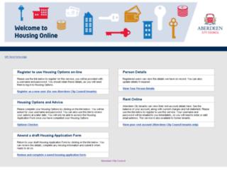 housingapplications.aberdeencity.gov.uk screenshot