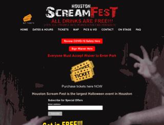 houstonhauntedhouses.com screenshot