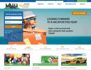 houstonhighwaycu.com screenshot