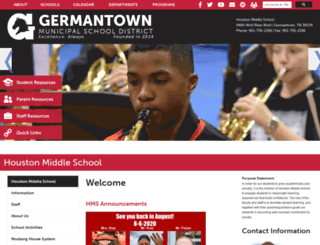houstonmiddle.org screenshot