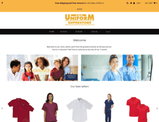 houstonuniformsuperstore.com screenshot