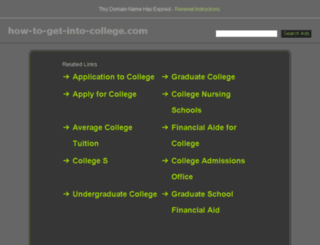 Advice on getting into College,?