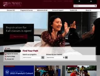 howardcc.edu screenshot