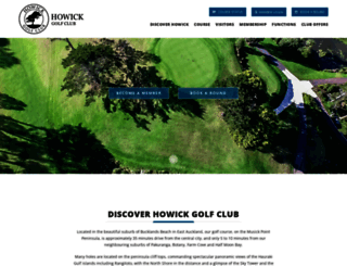 howickgolf.co.nz screenshot
