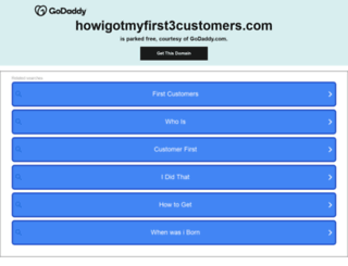 howigotmyfirst3customers.com screenshot