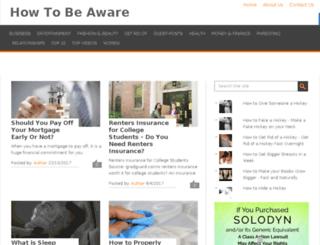 howtobeaware.com screenshot