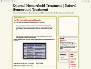 howtocurehemorrhoidproblem.blogspot.com screenshot