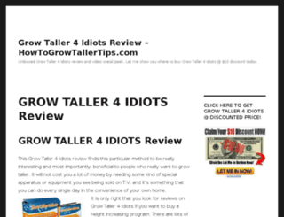 howtogrowtallertips.com screenshot