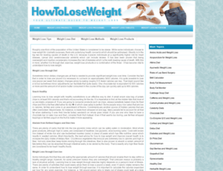 howtoloseweight.org screenshot