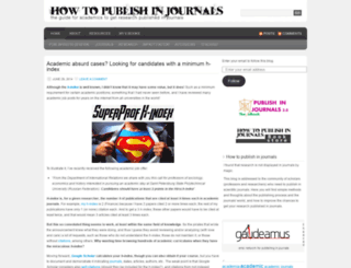 howtopublishinjournals.com screenshot