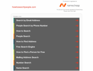 howtosearchpeople.com screenshot