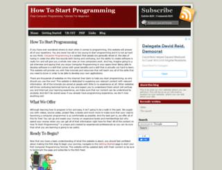 howtostartprogramming.com screenshot