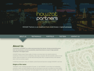 howzatpartners.com screenshot