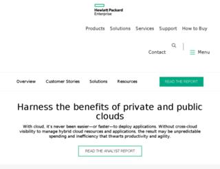 hpcloud.com screenshot