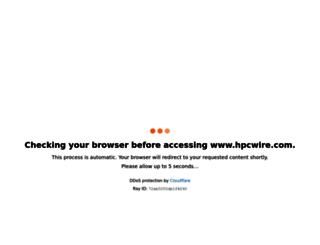 hpcwire.com screenshot