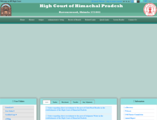 hphighcourt.gov.in screenshot