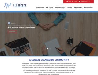 hr-xml.org screenshot