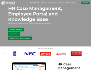 hr.dovetailsoftware.com screenshot