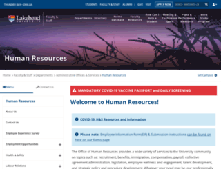 hr.lakeheadu.ca screenshot