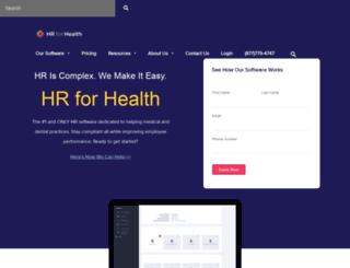 hrforhealth.com screenshot