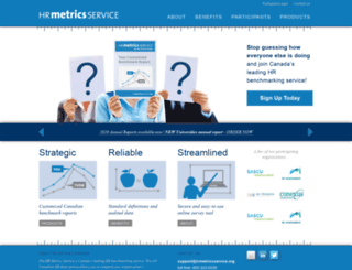 hrmetricsservice.org screenshot
