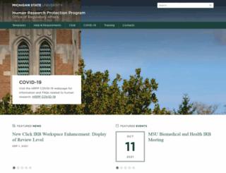 hrpp.msu.edu screenshot