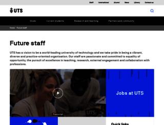 hru.uts.edu.au screenshot