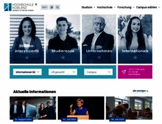 hs-koblenz.de screenshot