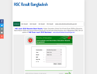 hscresultbangladesh.com screenshot