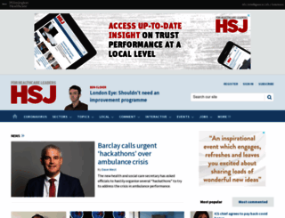 hsj.co.uk screenshot