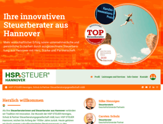 hsp-steuerberater-hannover.de screenshot
