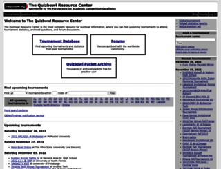 hsquizbowl.org screenshot