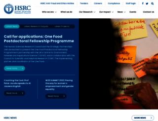 hsrc.ac.za screenshot