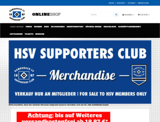 hsv-fanstore.de screenshot