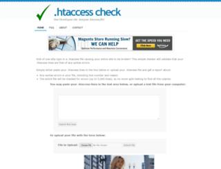 htaccesscheck.com screenshot