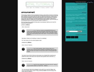 html-tutorials.tumblr.com screenshot