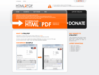 html2pdf.fr screenshot