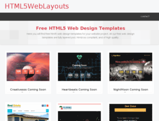 html5weblayouts.com screenshot
