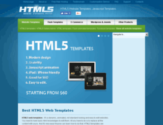 html5webtemplate.com screenshot