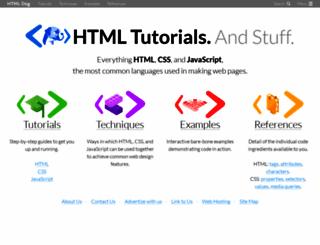 htmldog.com screenshot